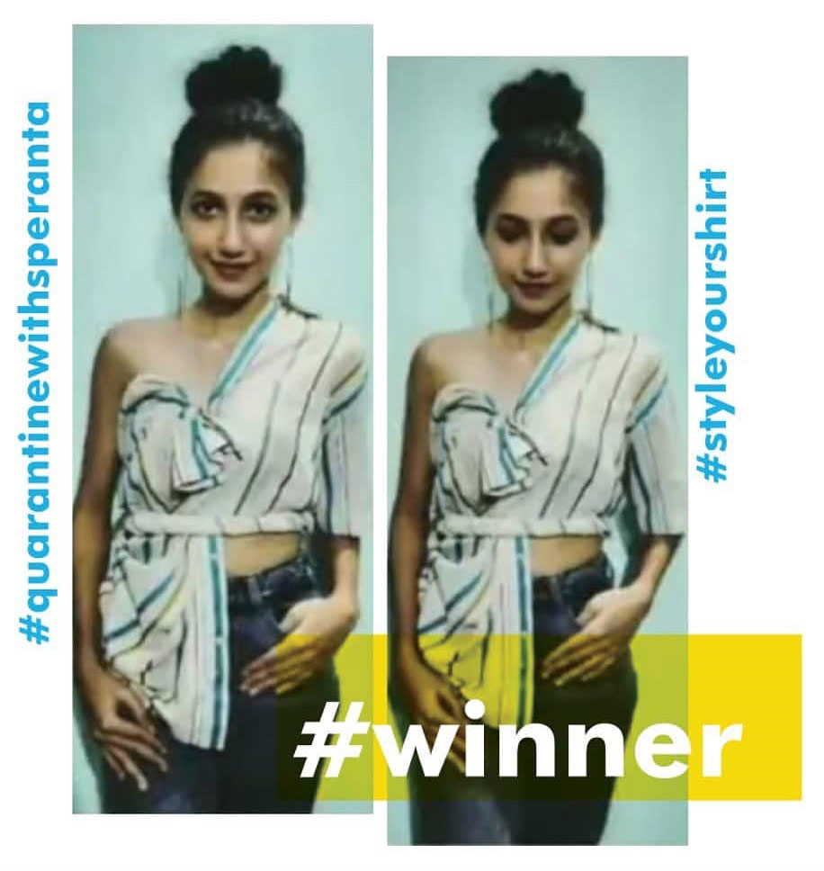 2020 Fashion 'Srushti Chavan' won the contest organised by 'Speranta'